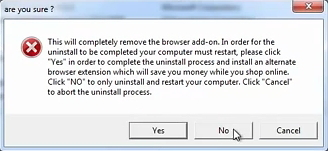 Clicking Yes installs another adware