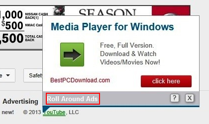 Roll Around Ads expanding from in-text link