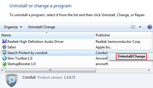 Uninstall Searchbulls related software