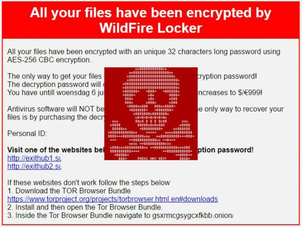 Get rid of WildFire Locker ransomware virus | Sureshot Software