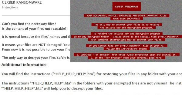 Cerber Ransomware 2017 HELP_HELP_HELP version