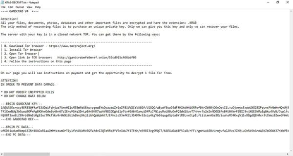 KRAB-DECRYPT.txt ransom note