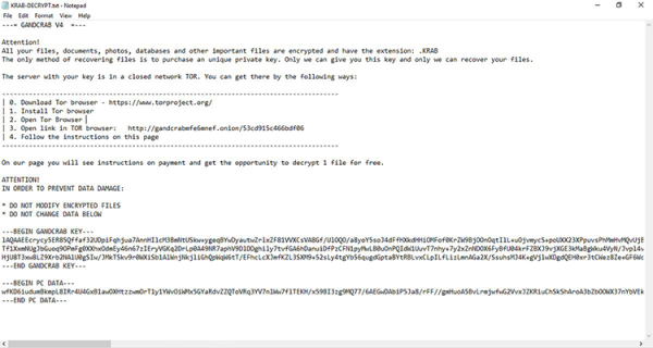 Nota de resgate KRAB-DECRYPT.txt